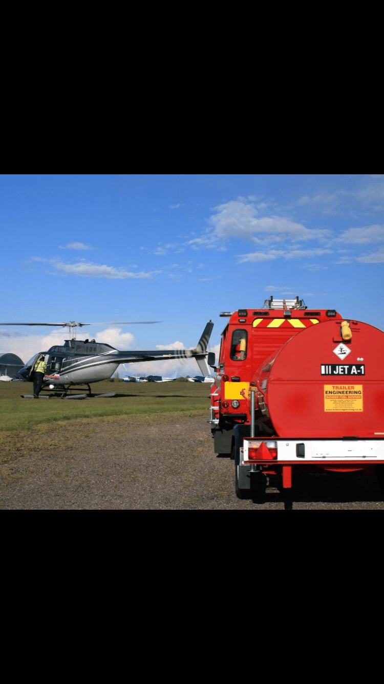 north weald fire rescue helicopter jet a1 950 Litre U.N. Approved Bunded Jet A1 EU Highway Bowser Trailer Engineering