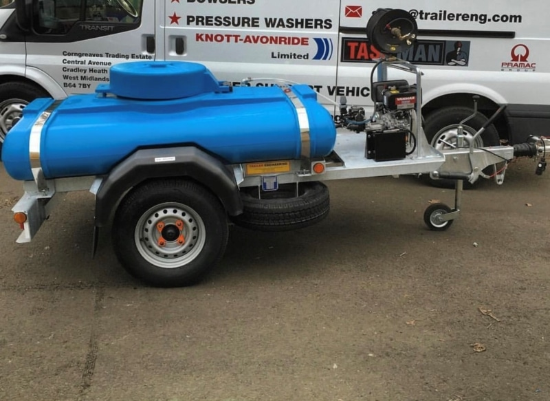500 litre deicing bowser 1125 Litre 3000 Psi Pressure Washer Highway Bowser C/W Rainmaker Combo Trailer Engineering