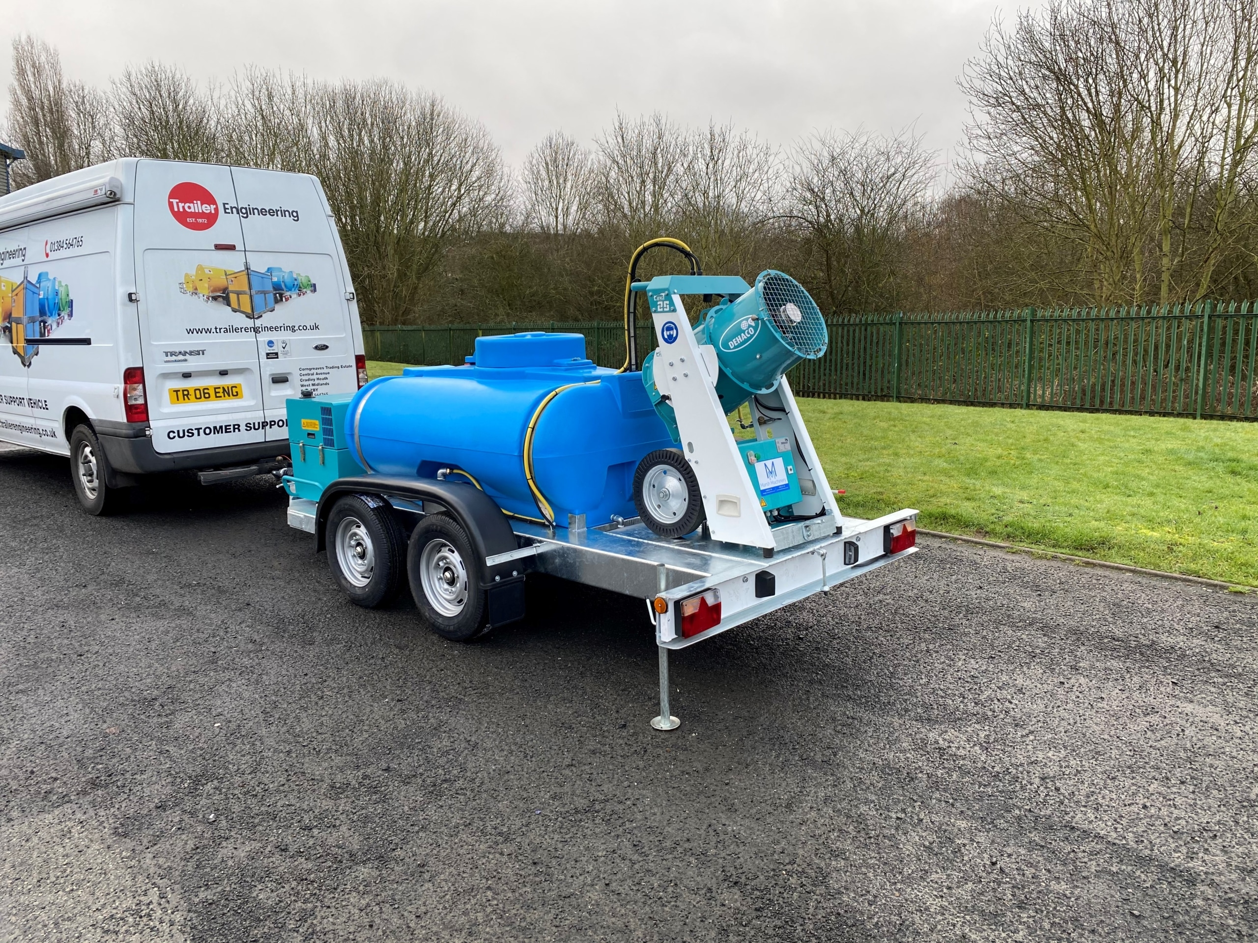 1125 Litre Twin Axle Water Bowser With Dust Cannon