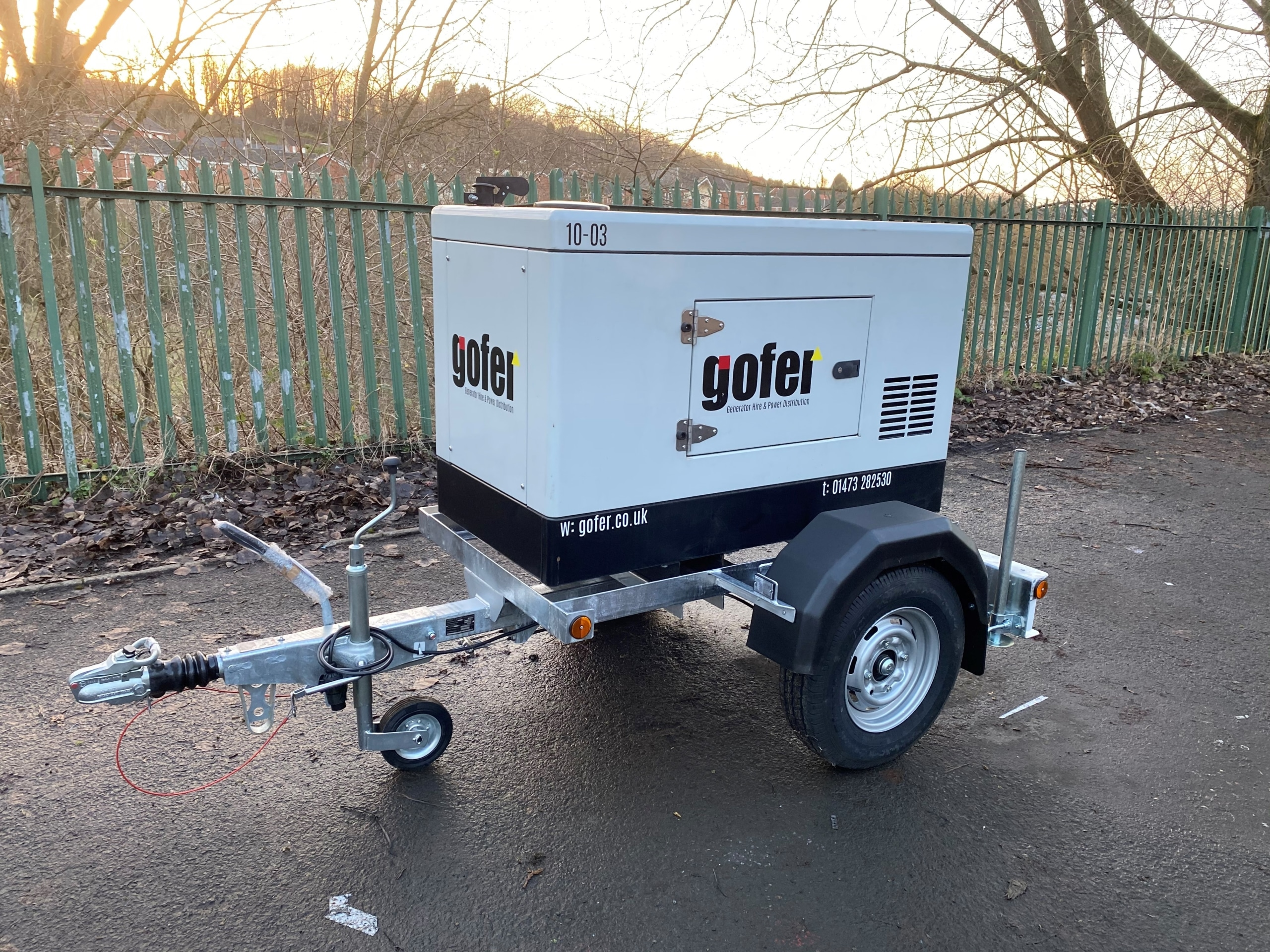 Highway Towable Single Axle Trailer For Himoinsa HYW13 Generator