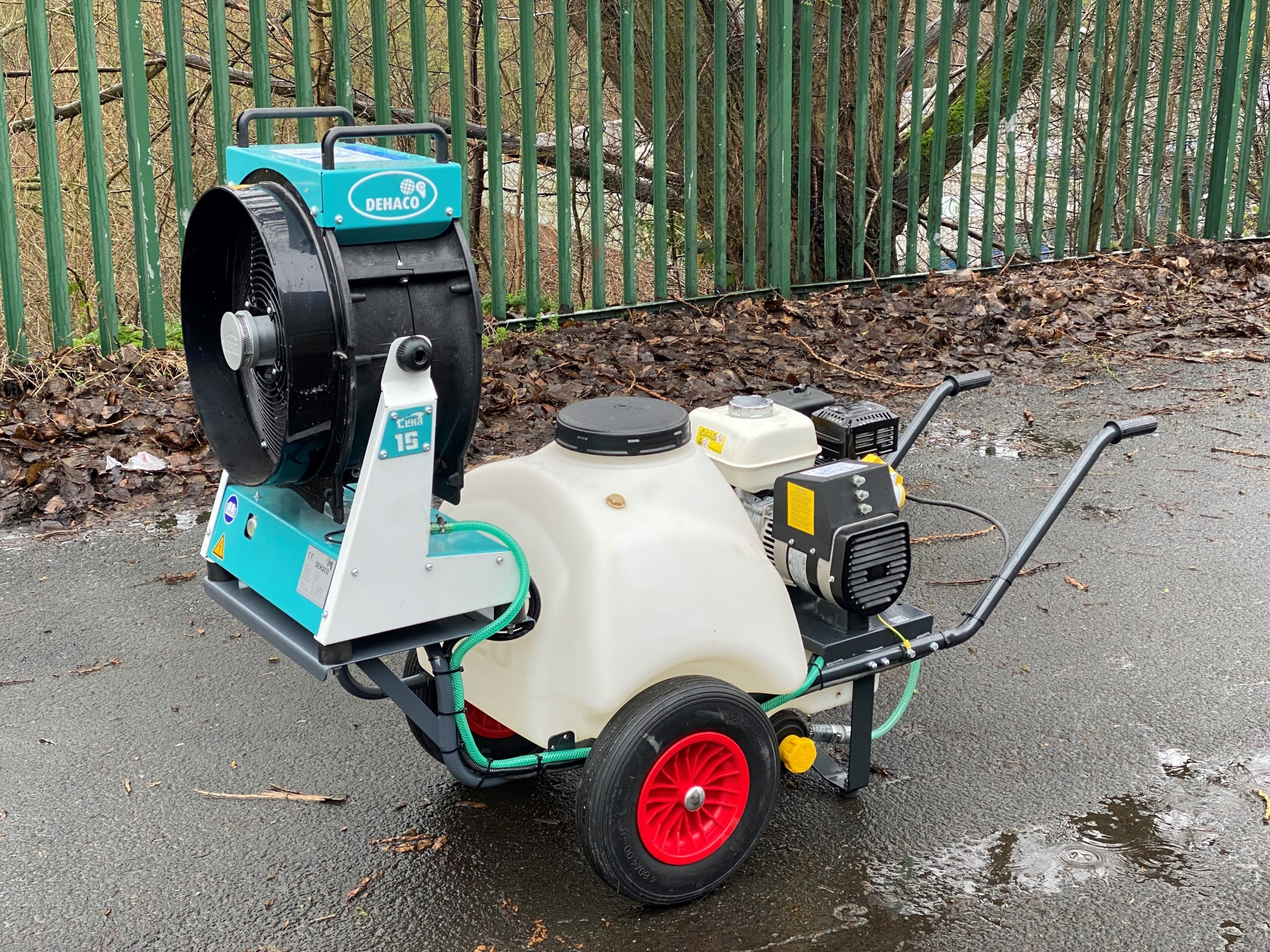 Trolley Mounted Dehaco Dust Cannon With 120 Litre Water Tank