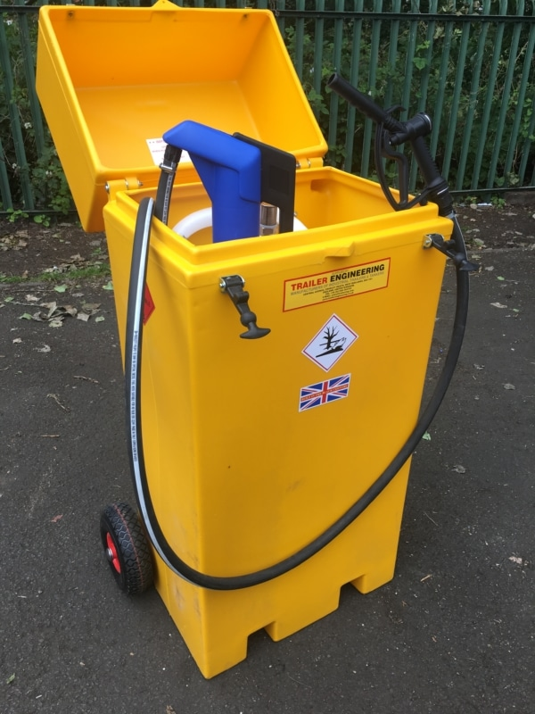 fuel caddy wheelie bin fuel tank